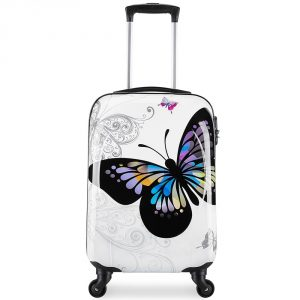 Maleta rígida con ruedas mariposa