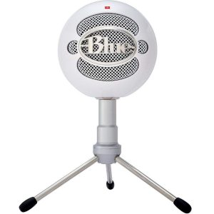 Micrófono de condensador blanco
