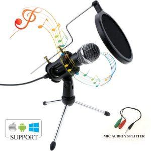Micrófono de condensador con doble filtro