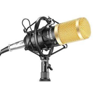 Micrófono de condensador dorado