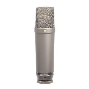 Micrófono de condensador plata